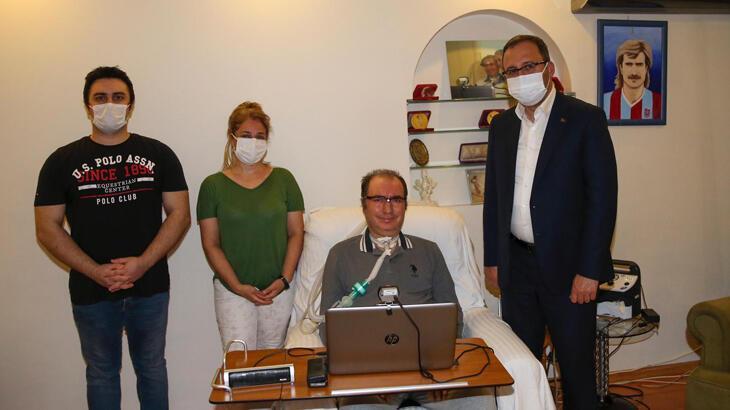 Bakan Kasapoğlu'ndan ALS hastası Gökçek'e ziyaret