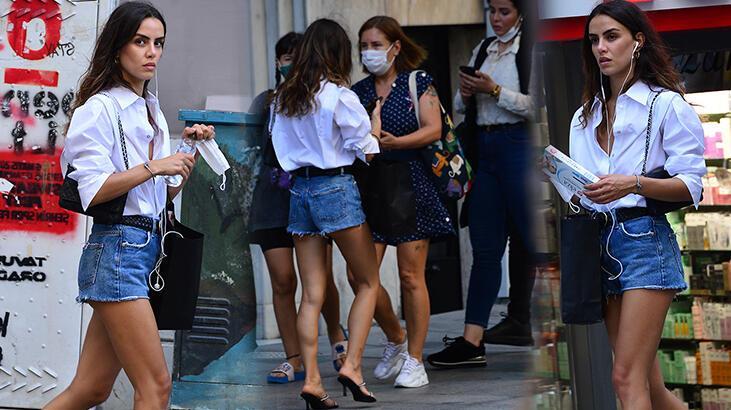 Çağla Demir'in maske paniği
