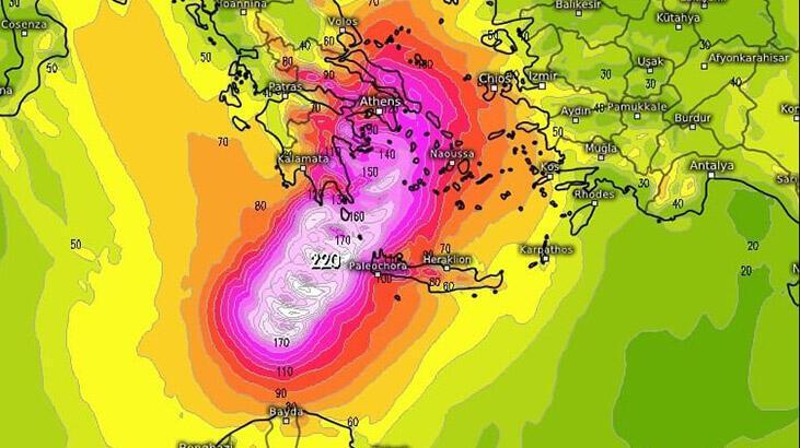 Hızı saatte 200 kilometreye ulaşabilir... Tropikal fırtınanın rotasında Türkiye var!