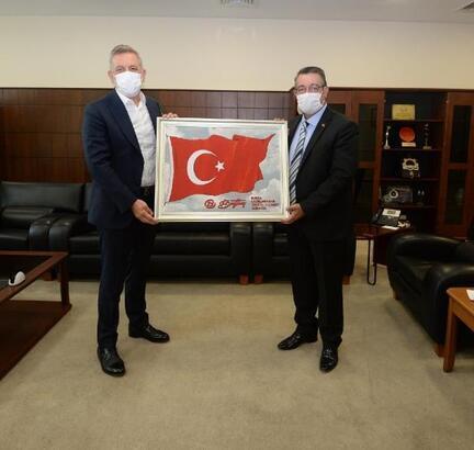 BUTTİM Başkanı Şengül'den BTSO Başkanı İbrahim Burkay'a ziyaret