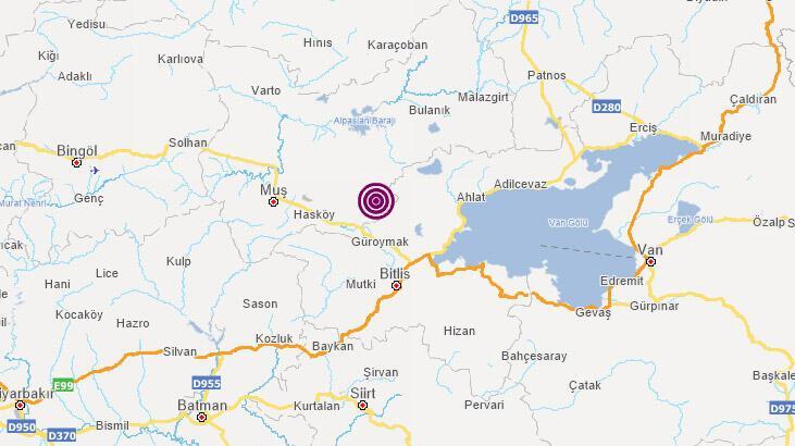 Son dakika: Muş'ta deprem mi oldu? AFAD, Kandilli Rasathanesi son depremler listesi...