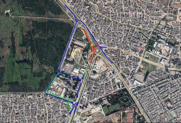 Otogar Kavşağı 7 ay trafiğe kapalı