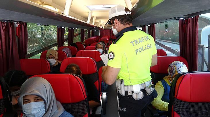 HES kodu olmayan yolcu taşıyan otobüs trafikten 10 gün men edildi