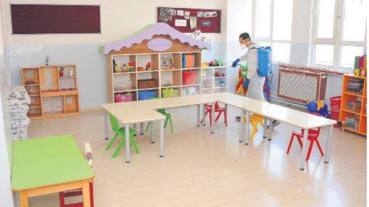 Ders zili öncesi okullar hazırlandı
