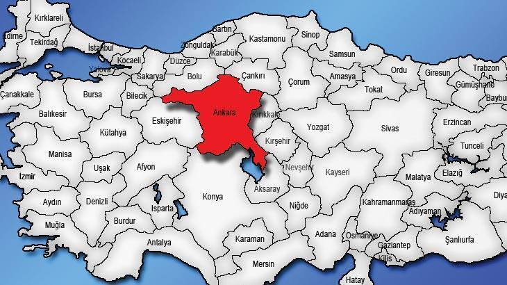 Ankara Haritası: Ankara İlçeleri Nelerdir? Ankara İlinin Nüfusu Kaçtır, Kaç İlçesi Vardır?