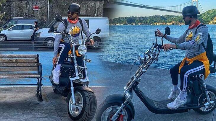 Elektrikli bisikletin yedek bataryası patladı! Sürücü son anda kurtuldu