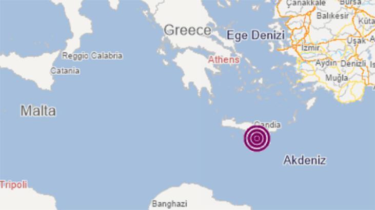Son dakika... Akdeniz'de 5.7 büyüklüğünde deprem