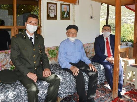 Kaymakamdan 93 yaşındaki gaziye ziyaret