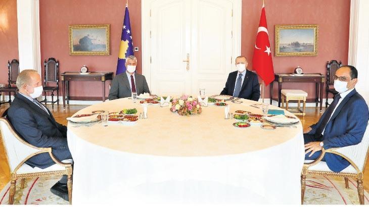 Erdoğan ve Taçi kahvaltıda buluştu