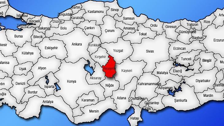 Nevşehir Haritası: Nevşehir İlçeleri Nelerdir? Nevşehir İlinin Nüfusu Kaçtır, Kaç İlçesi Vardır?