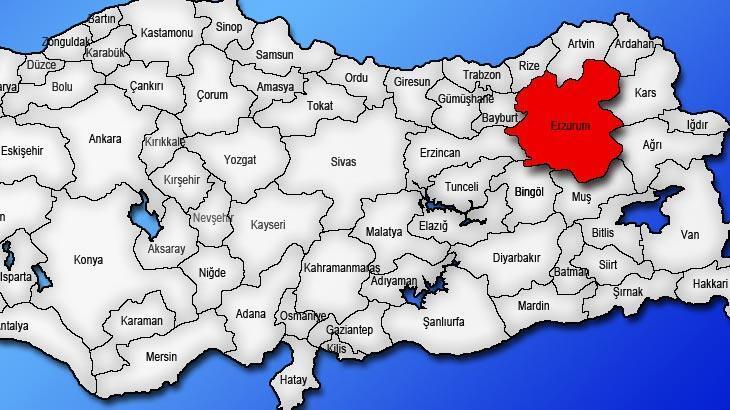 Erzurum Haritası: Erzurum İlçeleri Nelerdir? Erzurum İlinin Nüfusu Kaçtır, Kaç İlçesi Vardır?