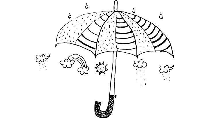 Şemsiye boyama sayfası