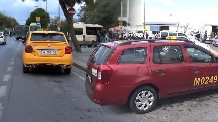 İstanbul'da taksicilerin 'bordo' tartışması!