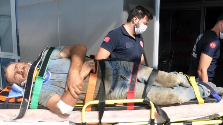 Tekirdağ'da 5 metreden düşen işçi yaralandı!