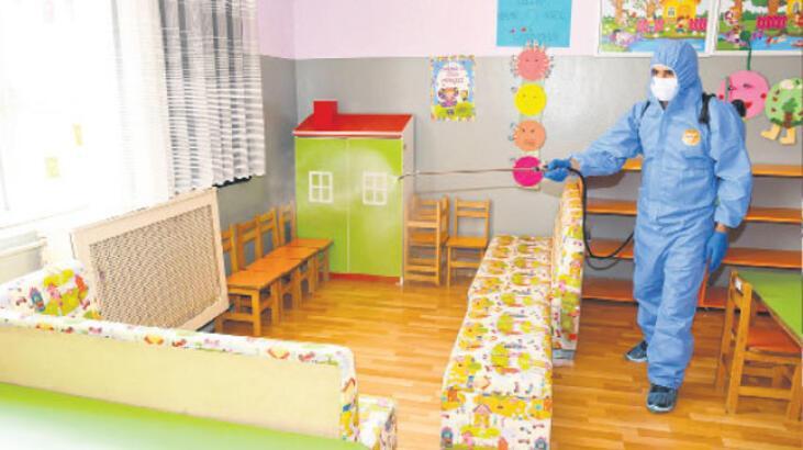 Okulların dört bir yanı temizleniyor