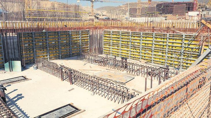 Akkuyu'da 2. ünitede reaktör temeli tamam