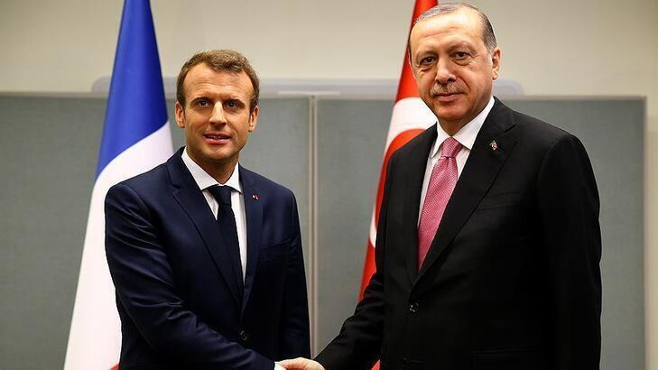 Erdoğan, Macron ile görüştü: Tüm sorunları masada çözelim