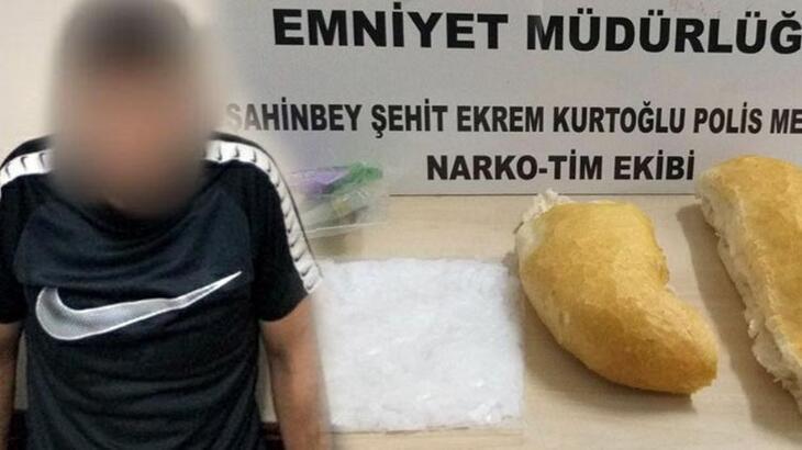 Gaziantep'te ekmek arasından uyuşturucu çıktı!