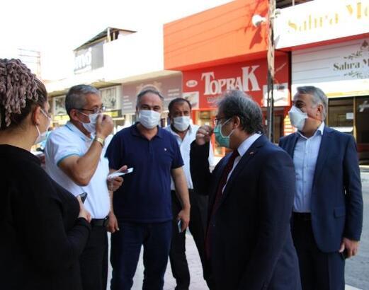 Sağlık Müdürü Benli ve İl Tarım ve Orman Müdürü Şahin'den maske denetimi