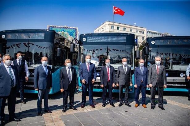 Kayseri Büyükşehir Belediyesi otobüs filosuna 24 yerli otobüs daha kattı