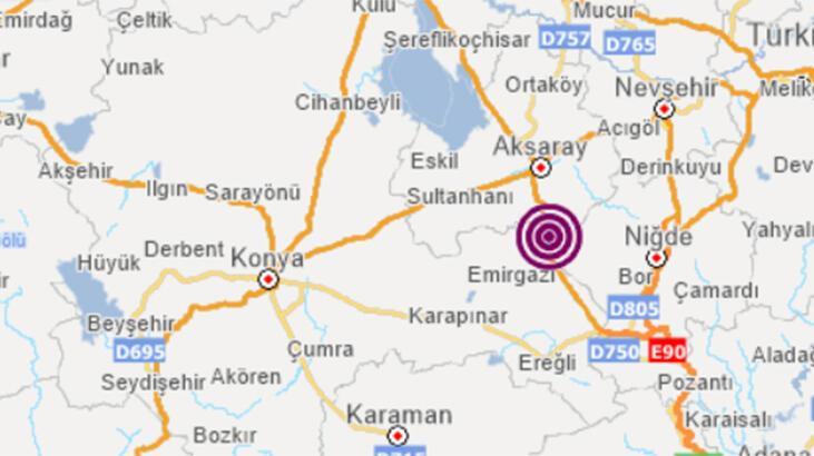 Son dakika! Aksaray'da korkutan deprem! Depremin büyüklüğü...