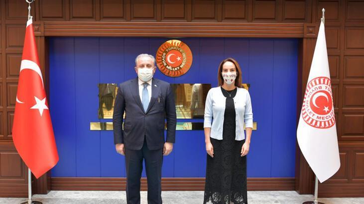 TBMM Başkanı Şentop, PAB Başkanı Gabriela Cuevas Barron'u kabul etti