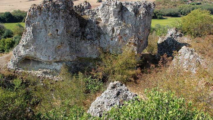 Edirne'de Traklara ait tarihi kaya