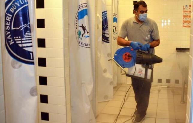 Erciyes Cup Turnuvasında koronavirüse dezenfekteli önlem