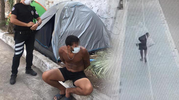 Kayıtları izleyen polis harekete geçti, çadırda yakalandı