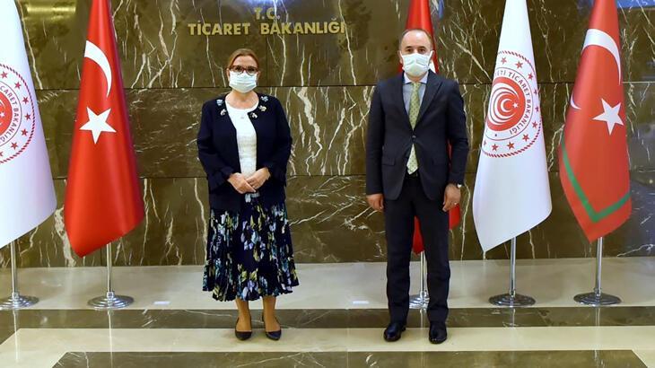 TPF heyetinden Ticaret Bakanlığı'na ziyaret