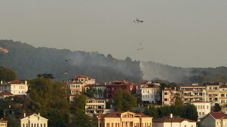 Son dakika! Beykoz'da korkutan yangın