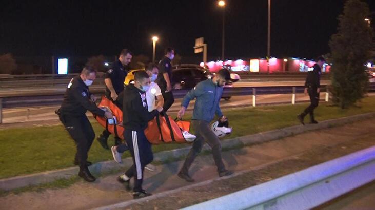 Yol kenarında baygın halde bulunan kadın hastaneye kaldırıldı