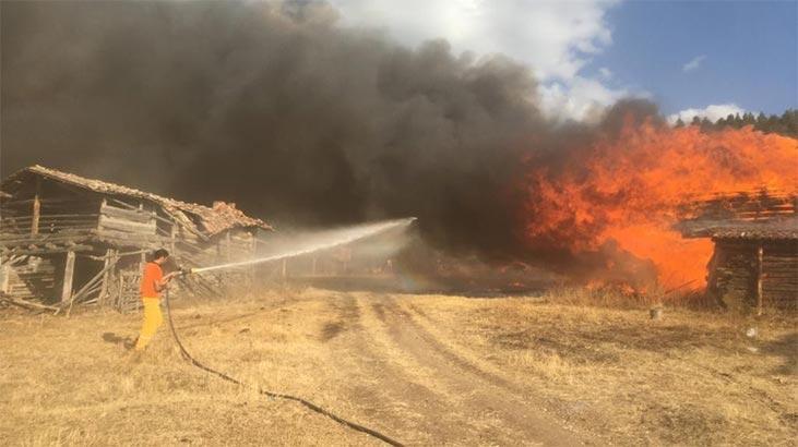 Kastamonu'da korkutan yangın! 6 ev kül oldu