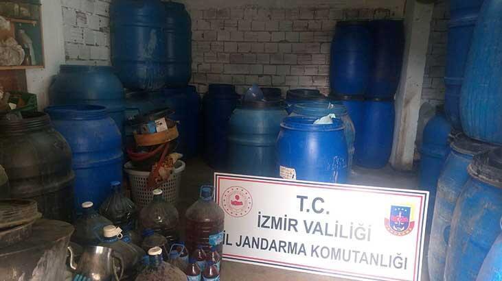 İzmir'de 6 bin 672 litre sahte içki ele geçirildi