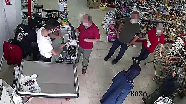 Kasiyer alışveriş yapan kişiyi gördü, polisi aradı