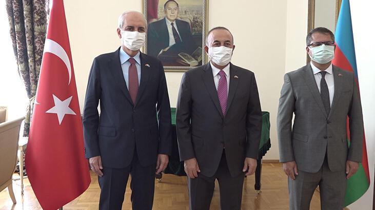 Dışişleri Bakanı Çavuşoğlu'dan Azerbaycan Büyükelçisi'ne ziyaret