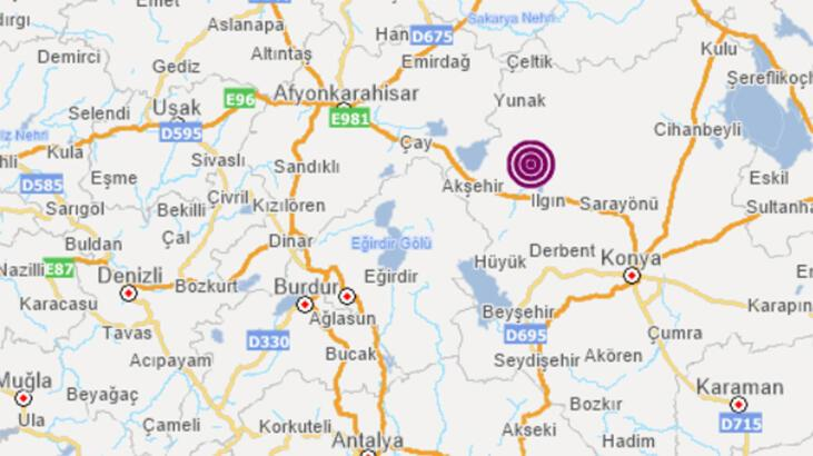 Son dakika... Konya'da 3.8 büyüklüğünde deprem