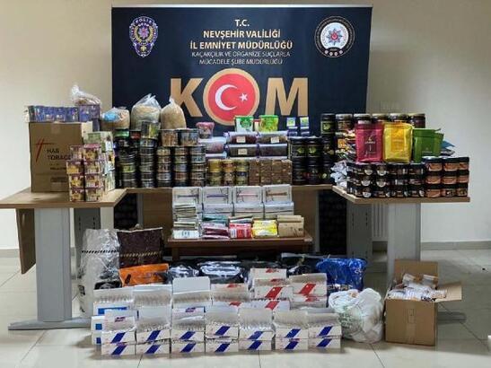 Nevşehir'de kaçak sigara ve nargile operasyonu