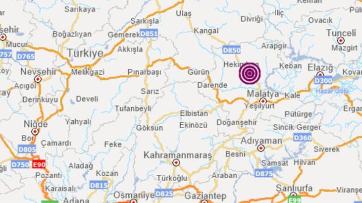 Son dakika... Malatya'da 3.8 büyüklüğünde deprem