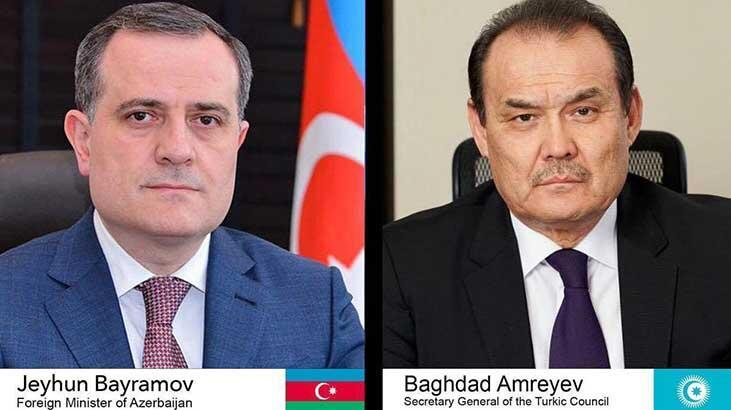 Bayramov ile Amreyev telefonda görüştü