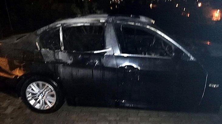 Bodrum'da park halindeki otomobilde yangın