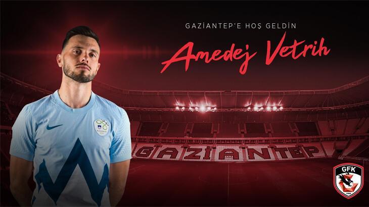 Son dakika   Amedej Vetrih resmen Gaziantep FK'da...