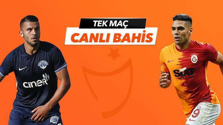 Kasımpaşa - Galatasaray maçı Tek Maç ve Canlı Bahis seçenekleriyle Misli.com'da