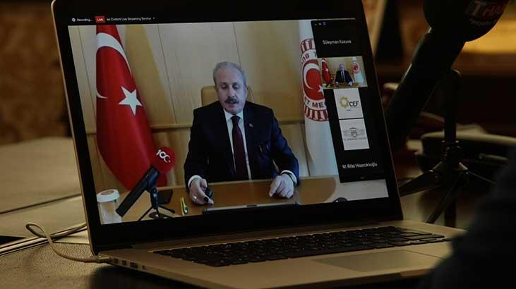 TBMM Başkanı Şentop, Çerkezköy Endüstriyel Fuarı'na on-line katıldı
