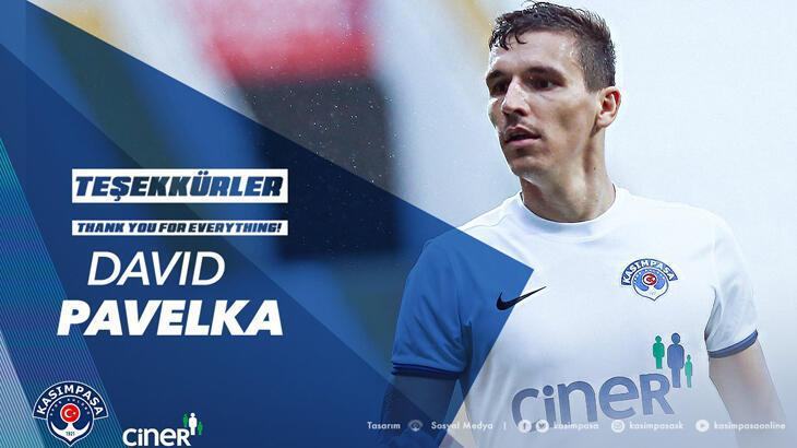 Kasımpaşa, David Pavelka'ya teşekkür etti