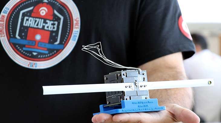 Türkiye'nin ilk cep uydusu 'Grizu-263A' uzay yolculuğu için gün sayıyor