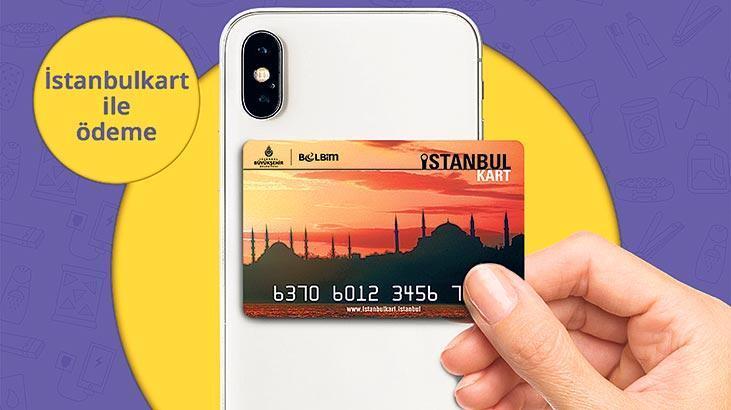 İstanbulkart ile Getir'de ödeme dönemi