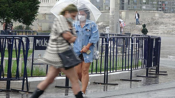 İstanbul'da yağmur akşam saatlerine kadar devam edecek