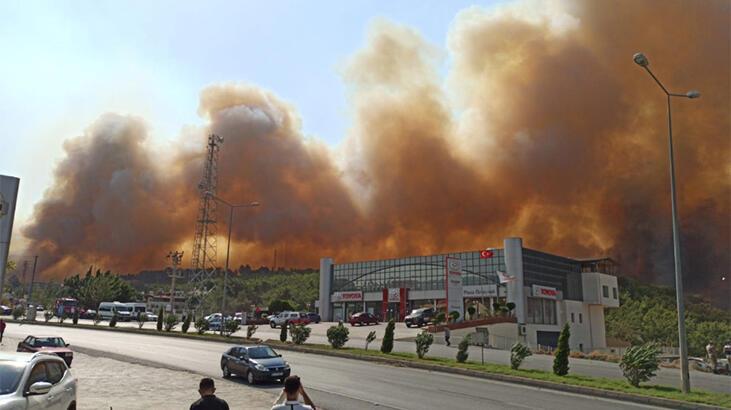 Terör örgütü, Hatay'daki orman yangınını propaganda çalışmasına dönüştürdü