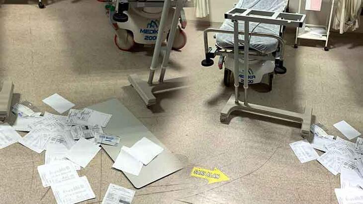 Doktora bıçakla saldırmıştı, malzeme dolabını da kırmış!